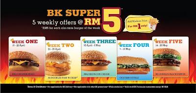 Carte Burger King.Burger King Malaysia Ala Carte Burger For Only Rm5 Promotion