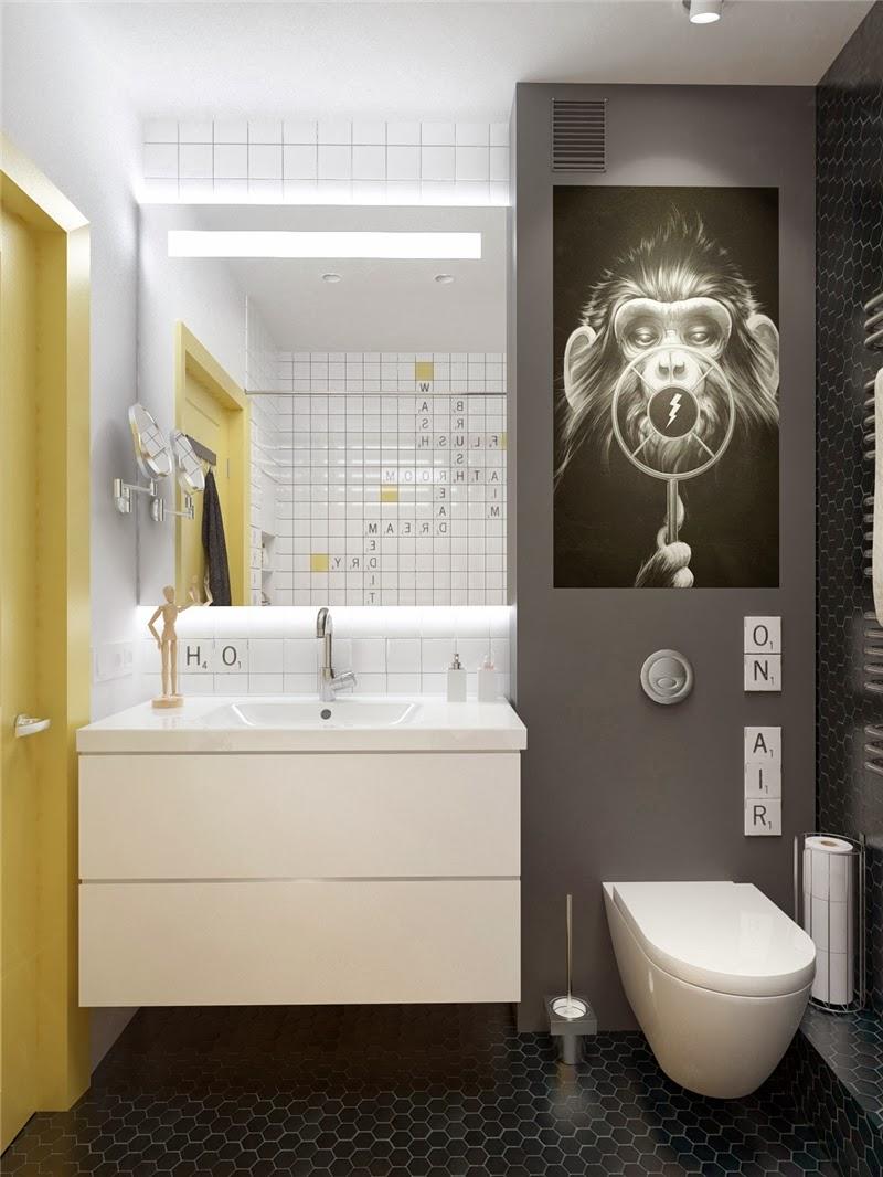 Mieszkanie w skandynawskim stylu z pastelowymi dodatkami, wystrój wnętrz, wnętrza, urządzanie domu, dekoracje wnętrz, aranżacja wnętrz, inspiracje wnętrz,interior design , dom i wnętrze, aranżacja mieszkania, modne wnętrza, styl skandynawski, scandinavian style, pastelowe kolory, małe wnętrza, kawalerka, łazienka, projekt łazienki