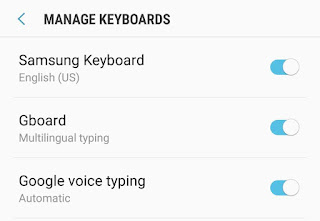 Enable Gboard in settings