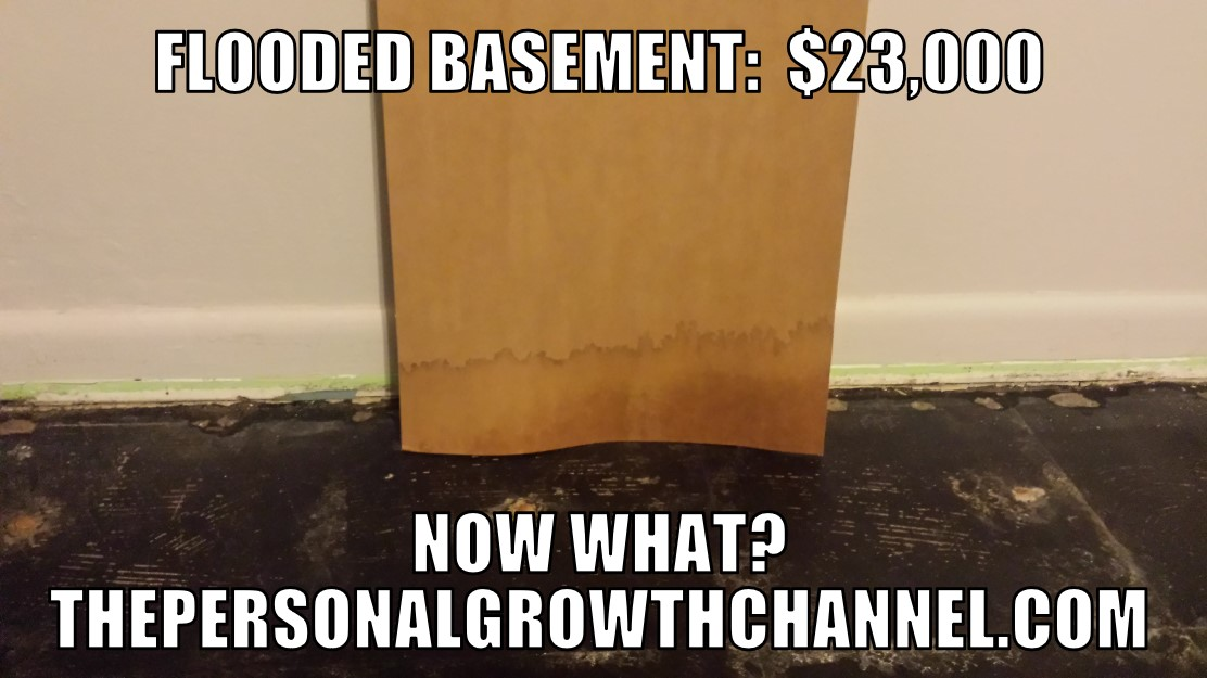 Picture of a flooded basement. How do we recover financially after a disaster?