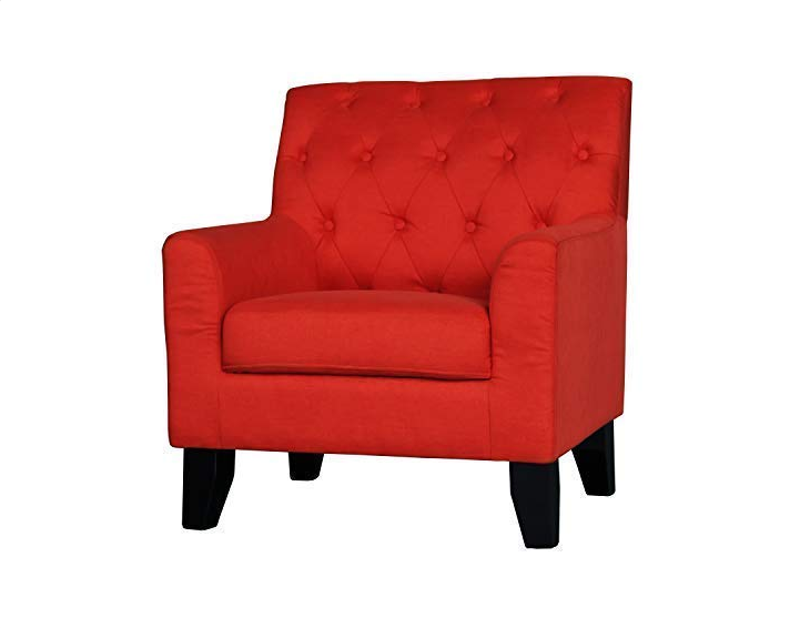Ebron Accent Chair, Hardwood Mordern, Classic Style Arm Chair for Living Room