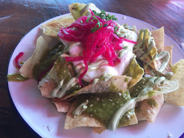 Chilaquiles brunch at Cochino Taco in Englewood, Colorado (Denver)