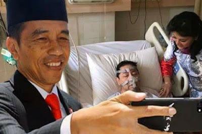Meme Setya Novanto di Rumah Sakit Jokowi Selfie