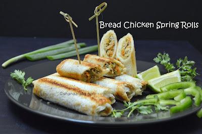 Bread Chicken Spring Rolls