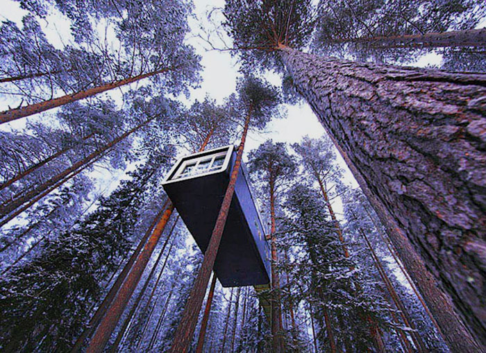 design art magazine the treehotel in sweden adds a new tree house to its forest. Black Bedroom Furniture Sets. Home Design Ideas