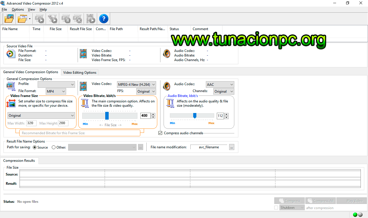 Descargar Advanced Video Compressor Full Ingles
