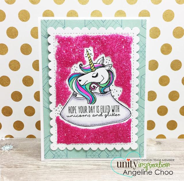 ScrappyScrappy: Valentine Unicorn and Glitter with Unity Stamp #scrappyscrappy #unitystampco #valentine #card #cardmaking #papercraft #craft #unicorn #glitter #timholtz #distress #distressglitter #magical #copic #quicktipvideo #youtube #video