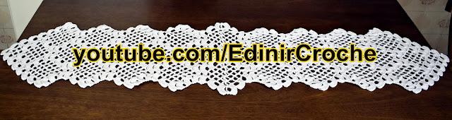 Edinir Croche ensina caminho de mesa em crochê passo a passo