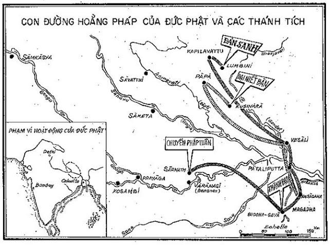 Con đường hoằng pháp của Đức Phật và các Thánh Tích - - ĐỨC PHẬT và PHẬT PHÁP - Đạo Phật Nguyên Thủy (Đạo Bụt Nguyên Thủy)