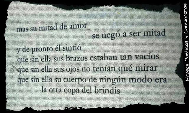 """Fragmento del poema """"La otra copa de brindis"""" de Mario Benedetti"""
