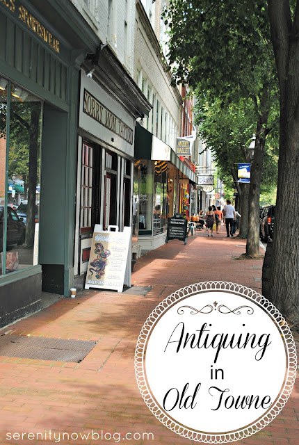 Antiquing in Old Towne, from Serenity Now blog