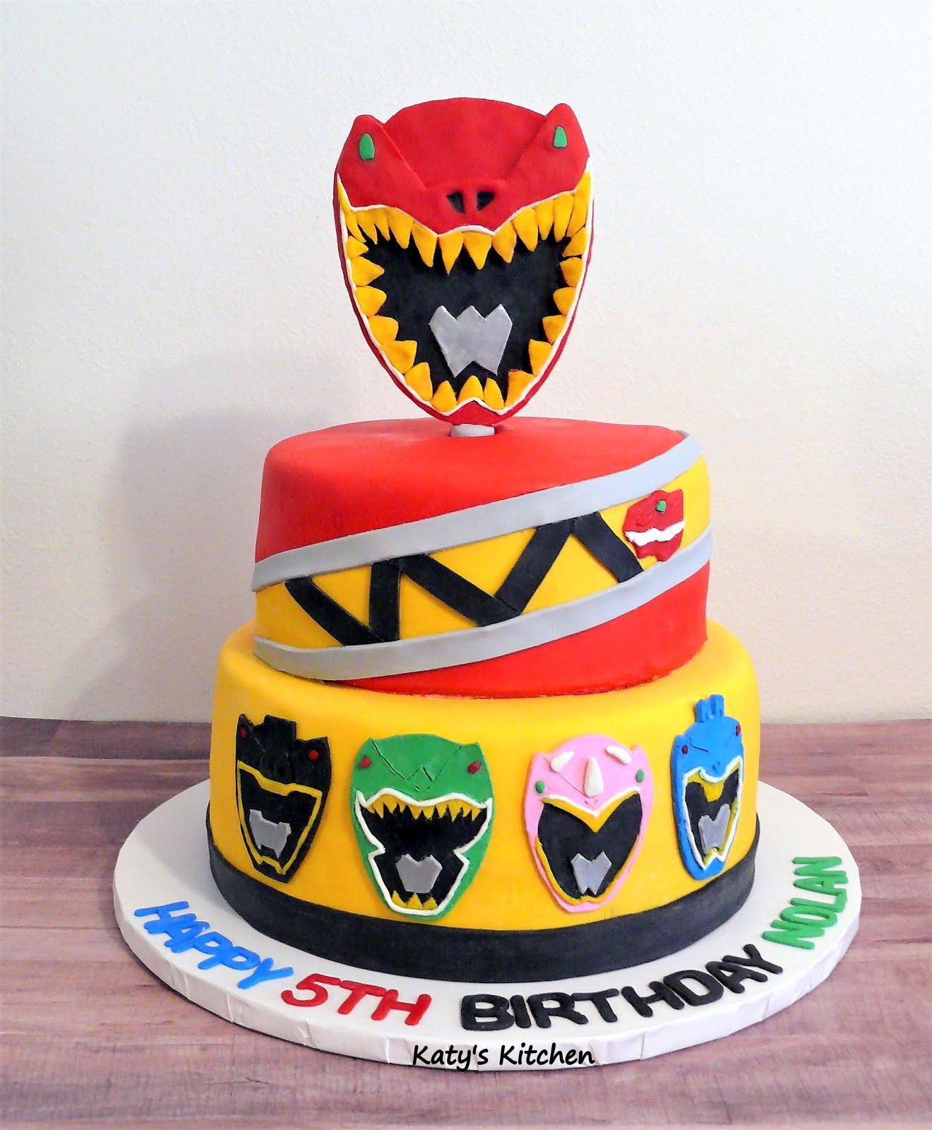 Groovy Katys Kitchen Power Rangers Dino Charge Cake Funny Birthday Cards Online Alyptdamsfinfo