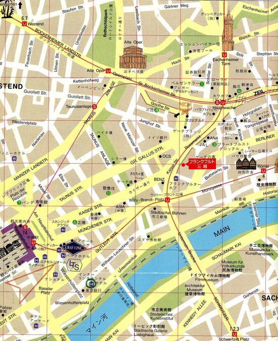 Map Of Frankfurt Am Main, Germany