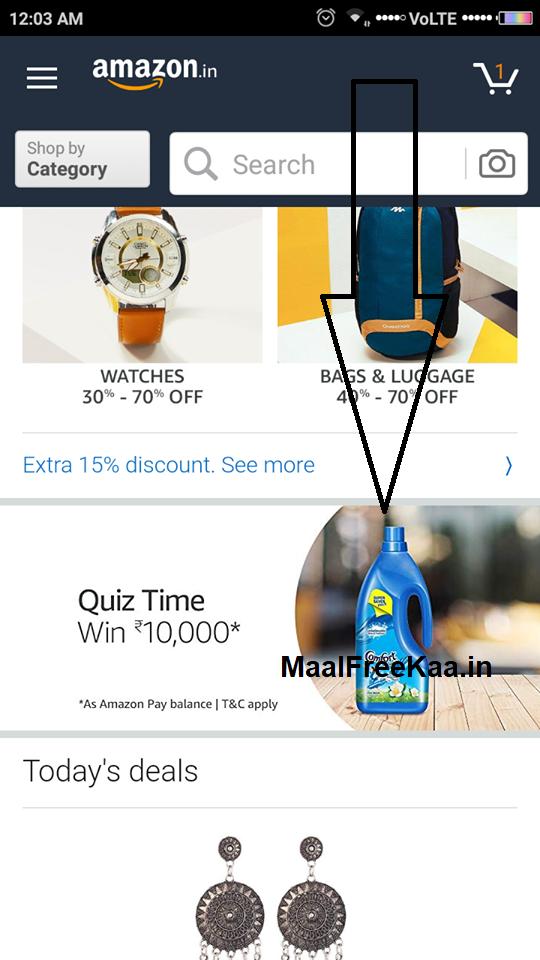 amazon app quiz today