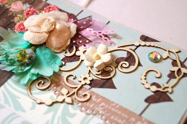 альбом, лето, скрап, цветы, шебби, кружево, бумага