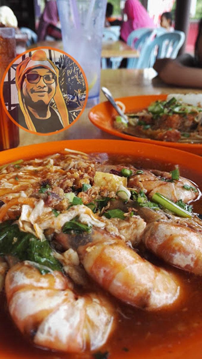 Mee Bandung dengan Udang Besar Sedap di Taiping