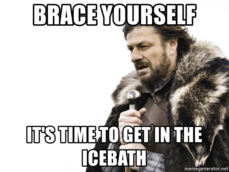 Znalezione obrazy dla zapytania ice bath meme