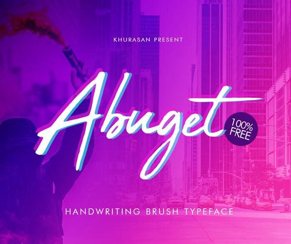 Download Font Terbaru 2018 - Abuget Brush Free Font