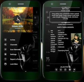 BBM MOD terbaru black themes