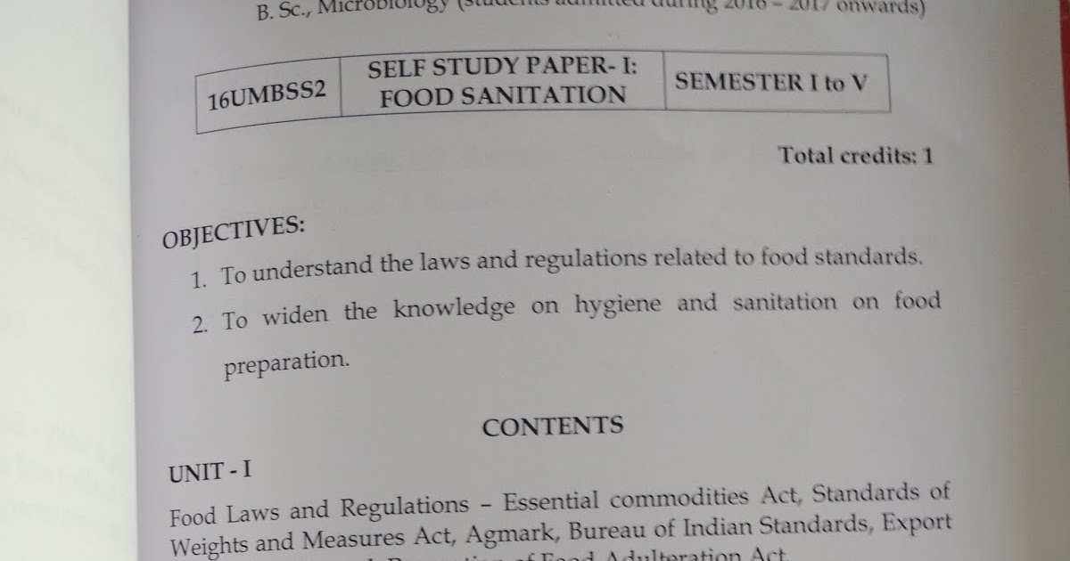 senthil prabhu sivasamy self study paper food sanitation