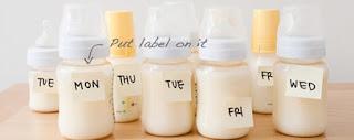 Pembarian label berdasarkan hari pada ASI
