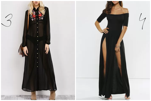 black maxi dresses rosegal dress