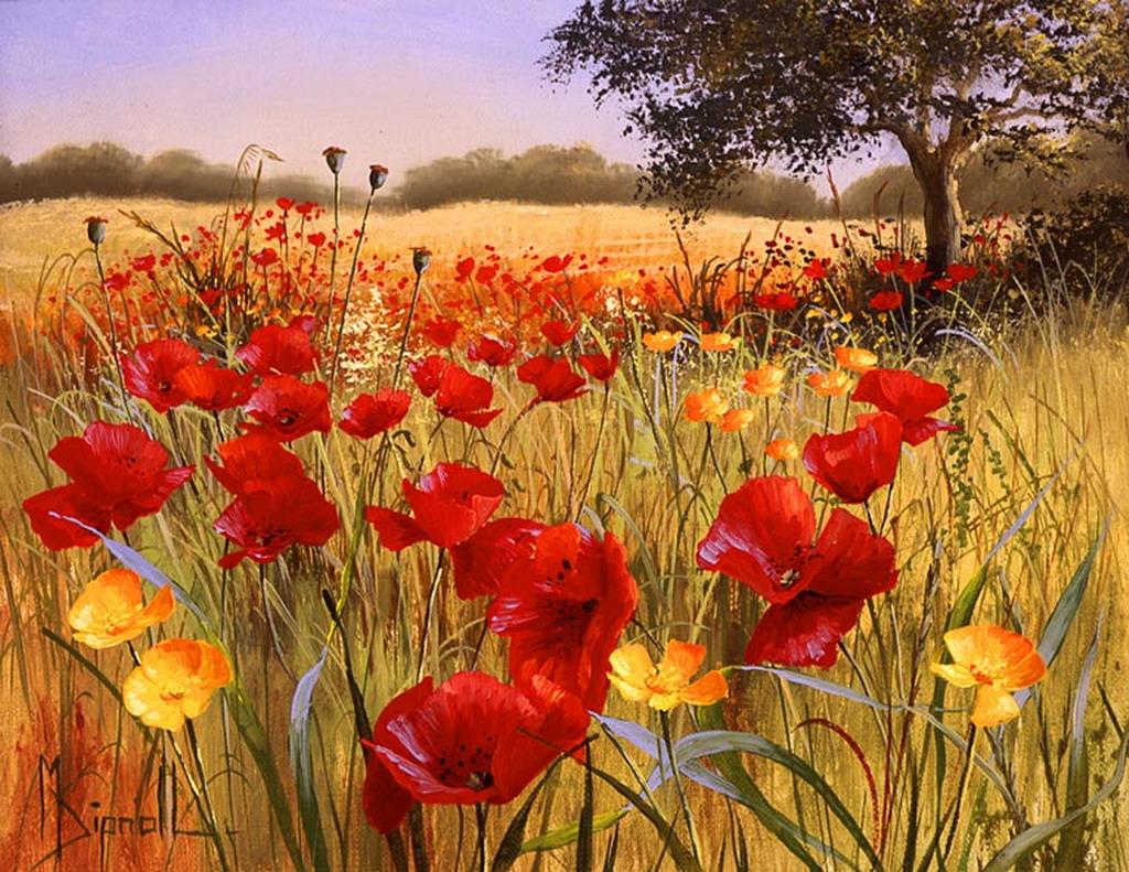Im genes arte pinturas vistas de campos naturales con - Fotos pinterest ...