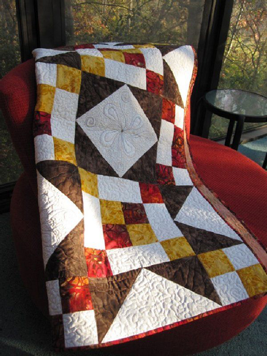 Holiday Splendor Quilt Pattern designed By Stephanie Forsyth of The Fiber Nation