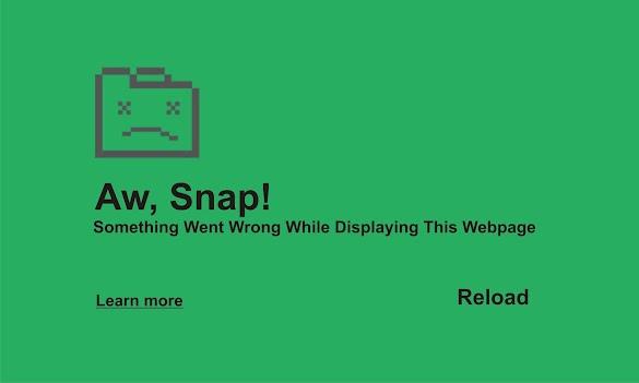 Cara Gampang Atasi Aw Snap! Something Went Wrong While Displaying This Webpage