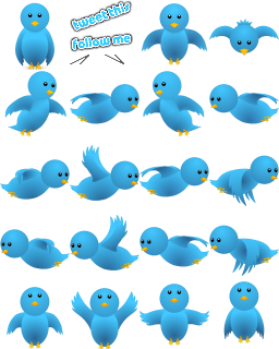 Add Flying Twitter Bird