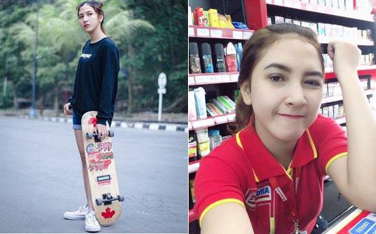 Erlina Nabila, Model Yang Juga Jadi Kasir Alfamart