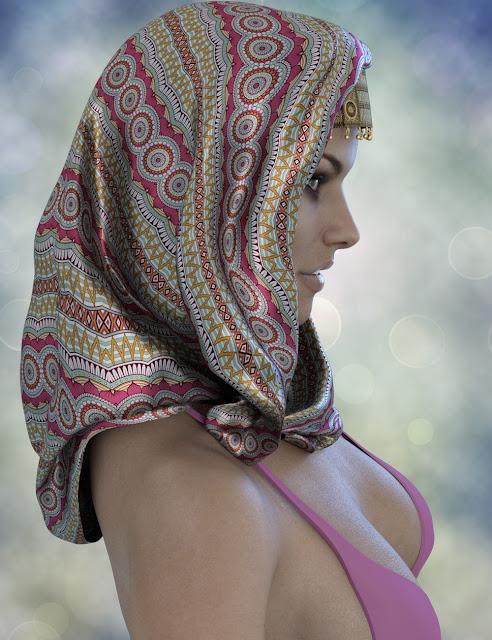 X-Fashion Turban Scarf for Genesis 3 Female
