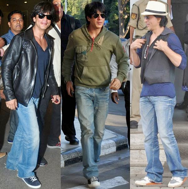 Shahrukh khan airplane fashion style