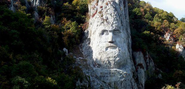 Cea mai mare statuie sculptată într-o stâncă, chipul lui Decebalus Rex.