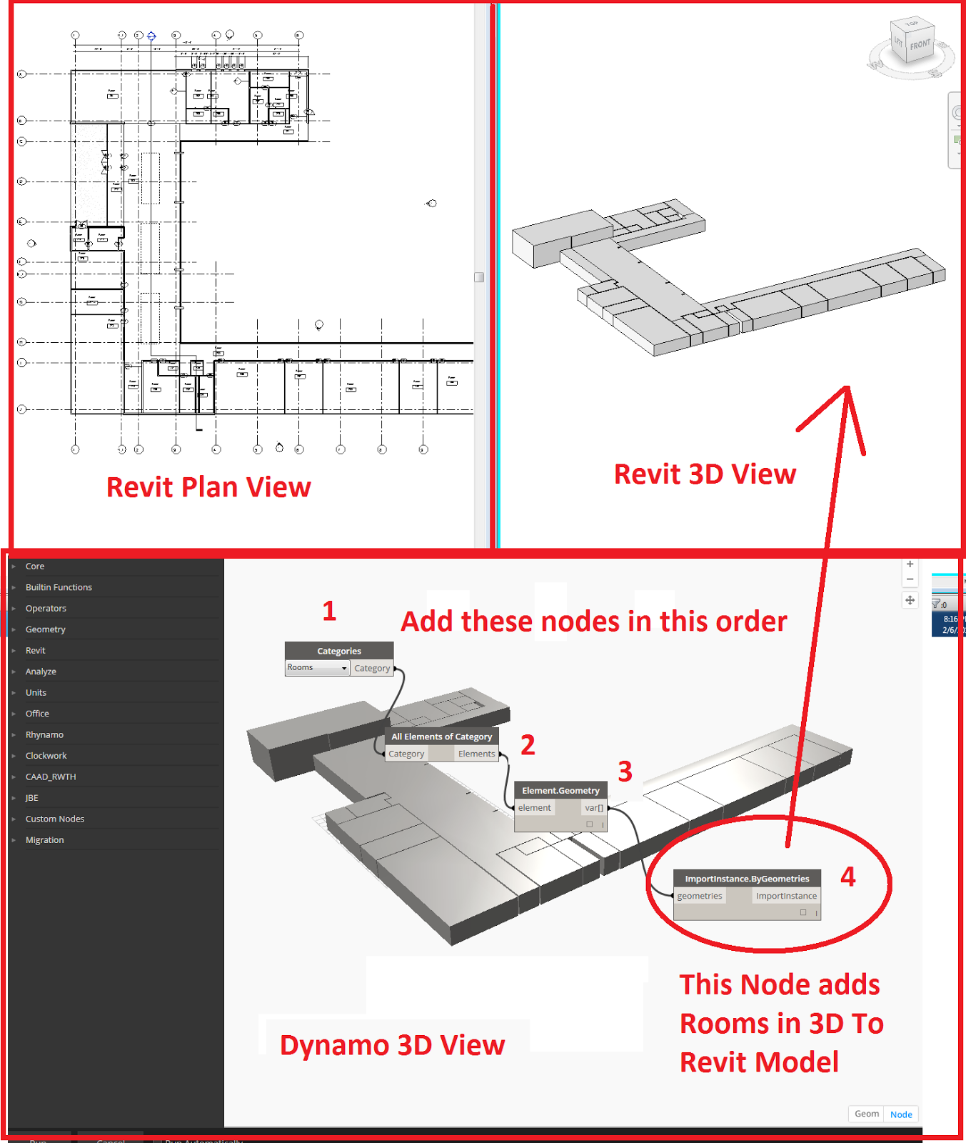 The Simply Complex Blog: Want 3D Rooms In Revit? Use DynamoBIM