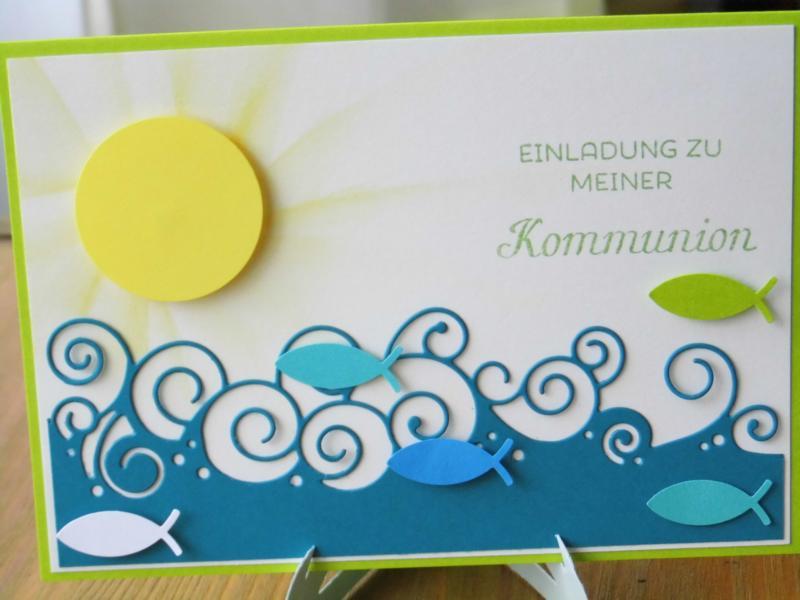 Schön Kommunion/Taufe   Einladungskarte Zur Kommunion Mit Sonne II