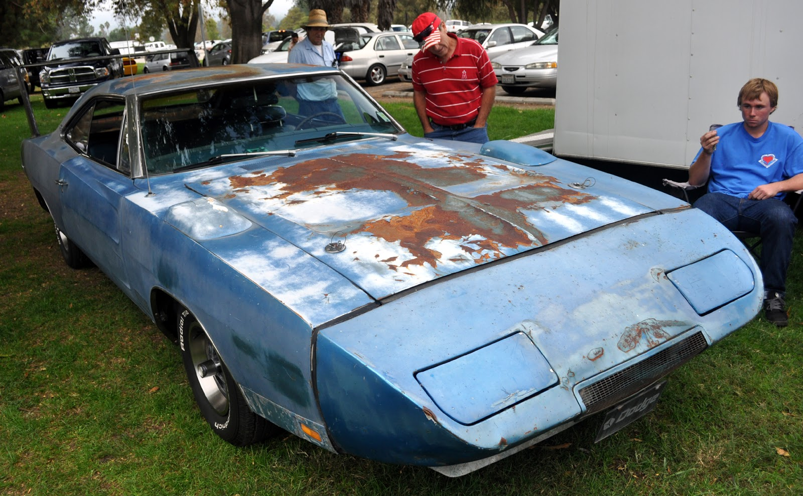 Just A Car Guy  An unrestored 1969 Dodge Daytona  looking like it s     An unrestored 1969 Dodge Daytona  looking like it s had a really rough  life  No its not for sale