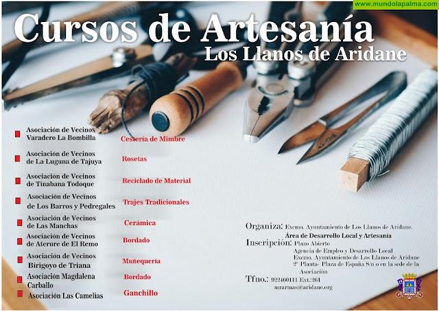 El Ayuntamiento de Los Llanos pone en marcha nueve talleres de artesanía en diferentes asociaciones del municipio