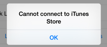 Cannot Connect To iTunes Store