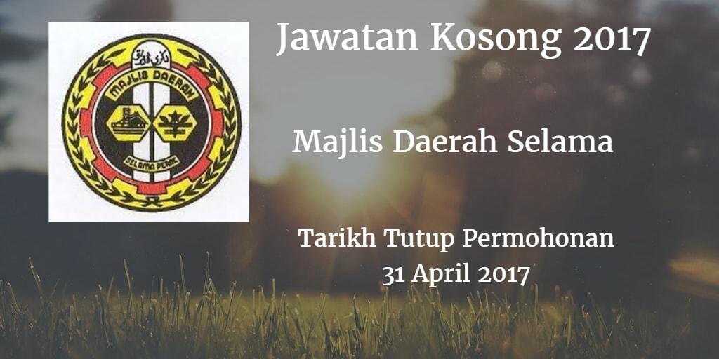 Jawatan Kosong MDSelama 31 April 2017