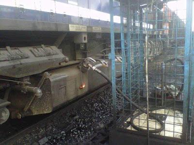 Beginilah cara pengisian HSD pada lokomotif CC205