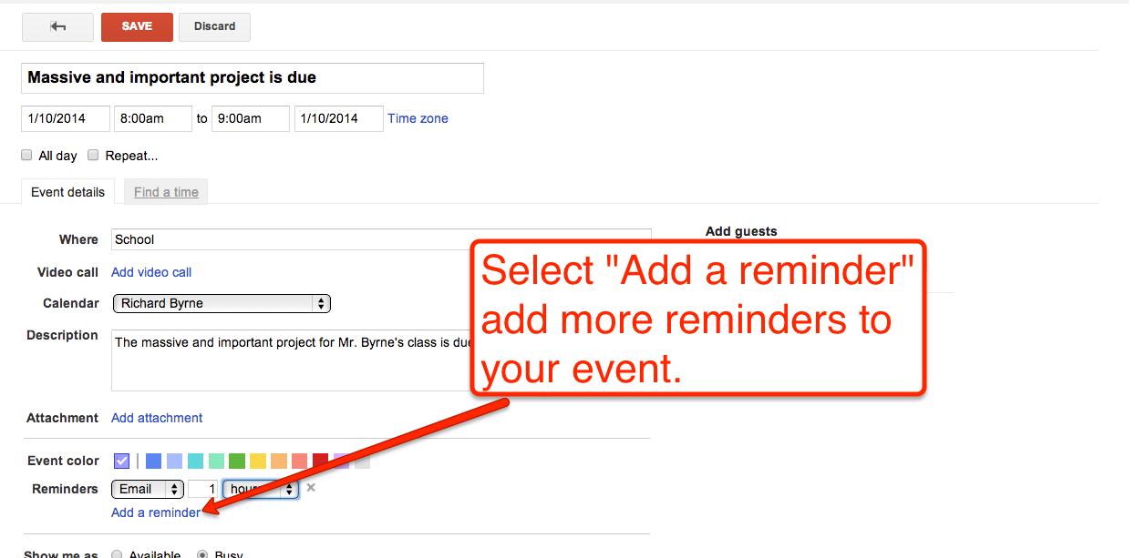 Free Technology For Teachers How To Create Google Calendar Event