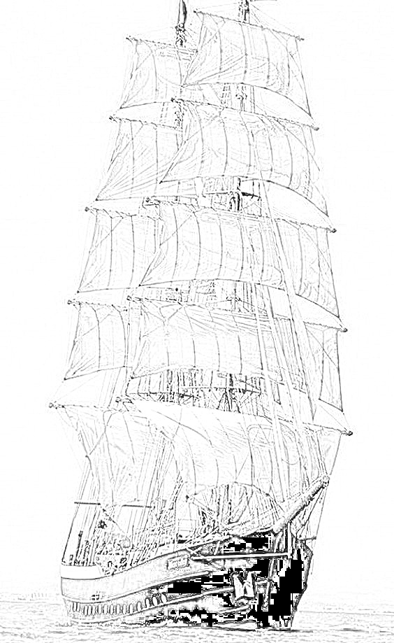 british sailing warship coloring pages - photo#25