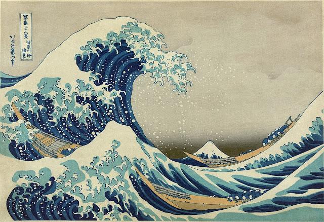 La gran ola de Kanagawa arte japonés