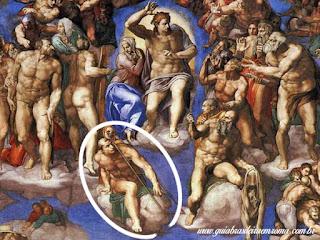 sao lourenco juizo final michelangelo - Basílica de São Lourenço Fora dos Muros