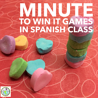 Minute to Win it Games in Spanish Class