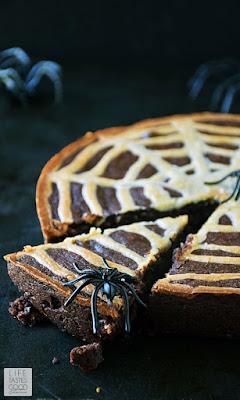 Spiderweb Brownies   by Life Tastes Good