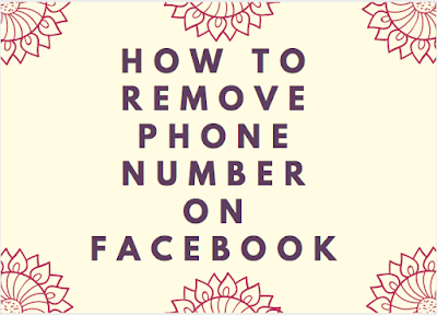 Facebook CellPhone Number - How To Remove Phone Number On Facebook