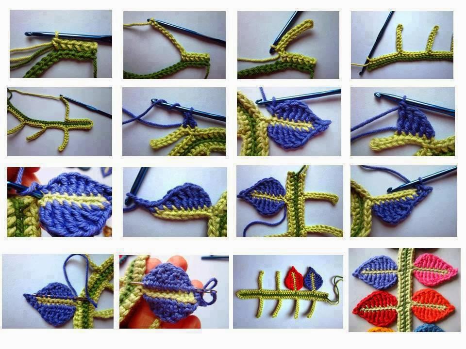 Tutorial Tejiendo Hojas y Ramas en Crochet