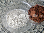 Prajitura boema preparare reteta blat - combinam cacaoa cu faina